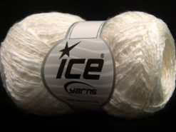 Lot of 8 Skeins Ice Yarns SALE PLAIN Hand Knitting Yarn White