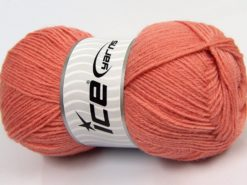 Lot of 4 x 100gr Skeins Ice Yarns MERINO GOLD (60% Merino Wool) Yarn Salmon