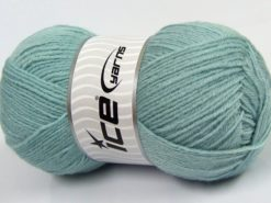 Lot of 4 x 100gr Skeins Ice Yarns MERINO GOLD (60% Merino Wool) Yarn Light Blue