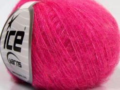 Lot of 10 Skeins Ice Yarns DUSTY WOOL (32% Wool 1% Elastan) Yarn Fuchsia