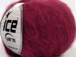 Lot of 10 Skeins Ice Yarns DUSTY WOOL (32% Wool 1% Elastan) Yarn Dark Red Lilac