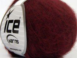 Lot of 10 Skeins Ice Yarns DUSTY WOOL (32% Wool 1% Elastan) Yarn Dark Burgundy