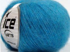 Lot of 10 Skeins Ice Yarns DUSTY WOOL (32% Wool 1% Elastan) Yarn Turquoise Shades