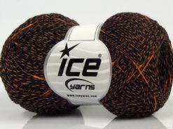 Lot of 8 Skeins Ice Yarns SALE WINTER (10% Wool) Hand Knitting Yarn Black Gold