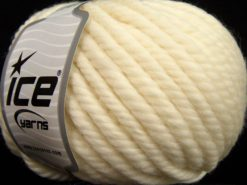 Lot of 3 x 100gr Skeins Ice Yarns JUMBO PURE WOOL (100% Wool) Yarn Light Cream