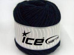 Lot of 2 x 150gr Skeins Ice Yarns SALE CAKES YARN (50% Wool) Yarn Dark Navy