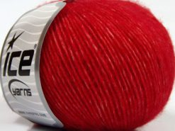 Lot of 8 Skeins Ice Yarns LEONARDO (66% Merino Wool 34% Organic Cotton) Yarn Red