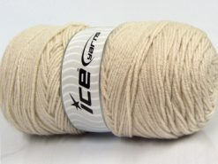 Lot of 2 x 200gr Skeins Ice Yarns SAVER Hand Knitting Yarn Light Beige