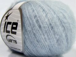Lot of 10 Skeins Ice Yarns SALE WINTER (20% Wool) Hand Knitting Yarn Light Blue
