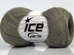 Lot of 8 Skeins Ice Yarns CASHMERE VISCOSE (15% Cashmere 85% Viscose) Yarn Khaki