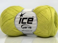 Lot of 8 Skeins Ice Yarns CASHMERE VISCOSE (15% Cashmere 85% Viscose) Yarn Light Green