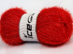 Lot of 4 x 100gr Skeins Ice Yarns SPARKLE Hand Knitting Yarn Red