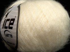 Lot of 10 Skeins Ice Yarns DUSTY WOOL (32% Wool 1% Elastan) Yarn Cream