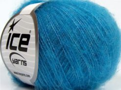 Lot of 10 Skeins Ice Yarns DUSTY WOOL (32% Wool 1% Elastan) Yarn Blue