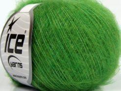 Lot of 10 Skeins Ice Yarns DUSTY WOOL (32% Wool 1% Elastan) Yarn Green