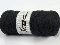 250 gr ICE YARNS JUMBO COTTON RIBBON (100% Recycled Cotton) Yarn Anthracite Black
