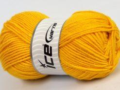 Lot of 4 x 100gr Skeins Ice Yarns MERINO GOLD LIGHT (60% Merino Wool) Yarn Yellow