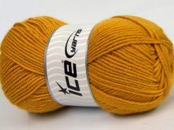 Lot of 4 x 100gr Skeins Ice Yarns MERINO GOLD LIGHT (60% Merino Wool) Yarn Gold