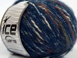 Lot of 8 Skeins Ice Yarns SALE WINTER (25% Wool 25% Cotton) Yarn Blue Shades Cream Copper