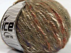 Lot of 8 Skeins Ice Yarns SALE WINTER (25% Wool 25% Cotton) Yarn Brown Shades Cream Copper