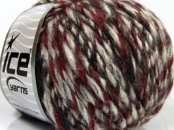 Lot of 8 Skeins Ice Yarns SALE WINTER (42% Wool 8% Viscose) Yarn Red Grey Cream Brown