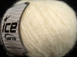 Lot of 8 Skeins Ice Yarns SALE WINTER (43% Wool) Hand Knitting Yarn Ecru