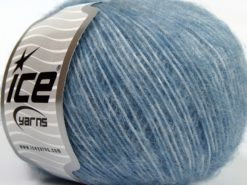 Lot of 8 Skeins Ice Yarns SALE LUXURY-PREMIUM (15% Alpaca 15% Wool) Yarn Blue Shades