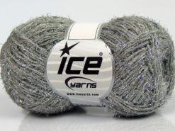 Lot of 8 Skeins Ice Yarns SALE METALLIC (15% Wool) Yarn Grey Silver