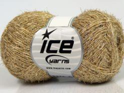 Lot of 8 Skeins Ice Yarns SALE METALLIC (15% Wool) Yarn Cream Gold