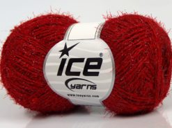 Lot of 8 Skeins Ice Yarns SALE METALLIC Hand Knitting Yarn Red