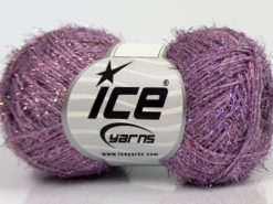 Lot of 10 Skeins Ice Yarns SALE METALLIC Hand Knitting Yarn Lilac