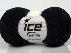 Lot of 8 Skeins Ice Yarns COTTON SUPERFINE (100% Cotton) Yarn Black