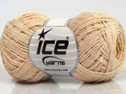 Lot of 8 Skeins Ice Yarns COTTON SUPERFINE (100% Cotton) Yarn Cream