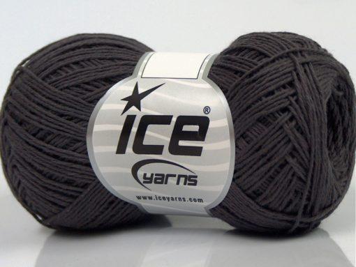 Lot of 8 Skeins Ice Yarns COTTON SUPERFINE (100% Cotton) Yarn Light Maroon