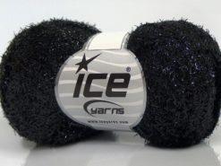 Lot of 10 Skeins Ice Yarns SALE METALLIC Hand Knitting Yarn Black