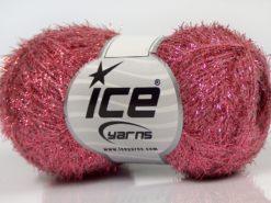 Lot of 10 Skeins Ice Yarns SALE METALLIC Hand Knitting Yarn Pink
