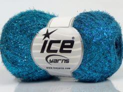 Lot of 10 Skeins Ice Yarns SALE METALLIC Hand Knitting Yarn Turquoise