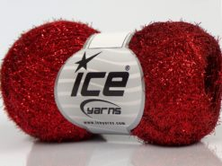 Lot of 10 Skeins Ice Yarns SALE METALLIC Hand Knitting Yarn Red