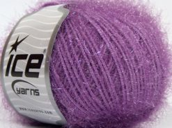 Lot of 8 Skeins Ice Yarns SPARKLE SOFT Hand Knitting Yarn Lilac
