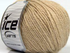 Lot of 8 Skeins Ice Yarns ALPACA LIGHT (18% Alpaca 20% Wool) Yarn Light Camel