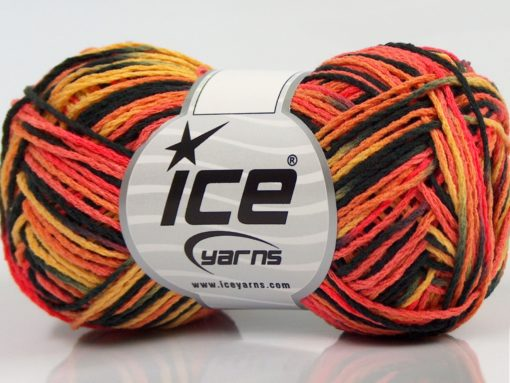 Lot of 8 Skeins Ice Yarns VIENNA Hand Knitting Yarn Black Salmon Shades Gold