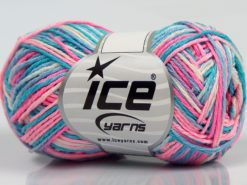 Lot of 8 Skeins Ice Yarns VIENNA Yarn Turquoise Shades Pink Shades