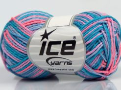 Lot of 8 Skeins Ice Yarns VIENNA Yarn Turquoise Shades Salmon Lilac