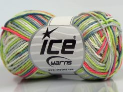 Lot of 8 Skeins Ice Yarns VIENNA Yarn Jeans Blue Grey Neon Green Neon Pink White