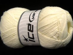 Lot of 4 x 100gr Skeins Ice Yarns BAMBOO BABY (60% Bamboo) Yarn Cream