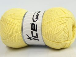 Lot of 4 x 100gr Skeins Ice Yarns BAMBOO BABY (60% Bamboo) Yarn Light Yellow
