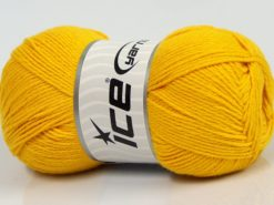 Lot of 4 x 100gr Skeins Ice Yarns BAMBOO BABY (60% Bamboo) Yarn Yellow