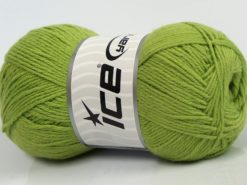 Lot of 4 x 100gr Skeins Ice Yarns BAMBOO BABY (60% Bamboo) Yarn Pistachio Green