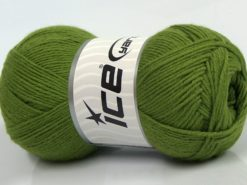 Lot of 4 x 100gr Skeins Ice Yarns BAMBOO BABY (60% Bamboo) Yarn Green