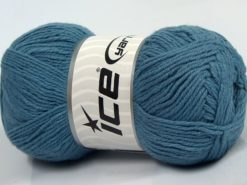 Lot of 4 x 100gr Skeins Ice Yarns BAMBOO BABY (60% Bamboo) Yarn Indigo Blue